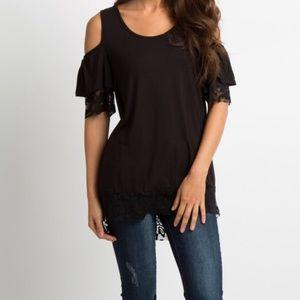 Lace maternity shirt